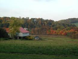A typical Chester County scene, filled with rolling hills and scenic horse farms.