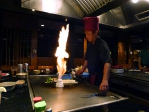 Fire is art at Hibachi!